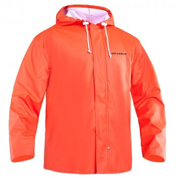 Grundens Petrus 82 Foul Weather Hooded Parka Orange
