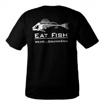 Grundens EFT Eat Fish T-Shirt Black Backside View