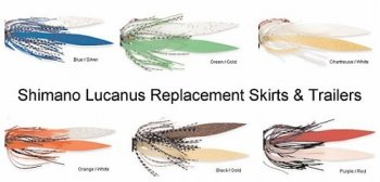 Shimano JLRST Lucanus Jigs Replacement Skirts & Trailers