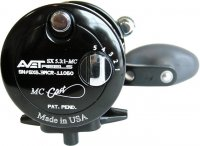 Avet SX 6/4 MC 2-Speed Lever Drag Casting Reels Black Sideplate