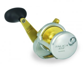 Shimano TAC10II Talica Two-Speed Lever Drag Reels Side