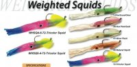 Tsunami Soft Plastic Weighted Squids