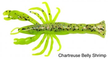 "Berkley Gulp! GSSGSHR3 - 3"" - 7 pc Ghost Chartreuse Belly Shrimp"