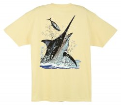 Guy Harvey Black Marlin Toss T-Shirt MTH1373