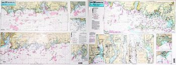 Captain Seagull's Coast of Connecticut and Fisher's Island Inshore Nautical Chart FI105