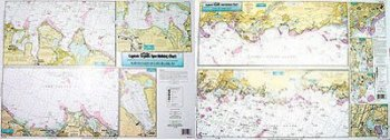 Captain Seagull's Coast of CT and North Shore of Long Island NY Inshore Nautical Chart NLI106