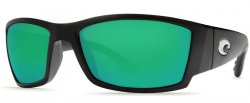 Costa Del Mar Corbina 580G Polarized Sunglasses Blackout Frame and Green Mirror Lens