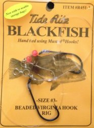 Tide R451-3 - Size 3 Rite Blackfish Beaded Virginia Hook Rigs