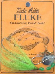Tide-R558-Rite-Fluke-Beak-Hook-Bucktail-Spinner-Rigs-Lime-Green