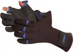 Glacier Glove Bristol Bay Slit Finger 811BK Fishing Gloves