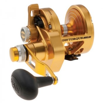 Penn Torque 2-Speed Lever Drag Reel TRQ25NLD2 Gold