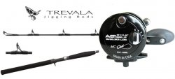 Avet SX 5.3 MC Reel Black / Shimano Trevala TVC66MH Jigging Rod Black Combo