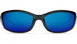 Costa Del Mar Hammerhead 580G Polarized Sunglasses Shiny Black Frame and Blue Mirror Lens