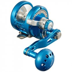Maxel OM05 Ocean Max Lever Dual Drag Single-Speed Jigging Reels Blue/Silver
