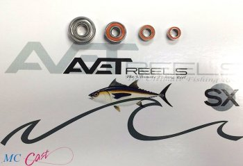 J&H Tackle Sealed ABEC-7 Ceramic Ball Bearing Upgrade Kit