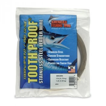 American Fishing Wire ToothProof 1LB Coil Stainless Steel Leader Wire
