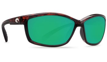 Costa Del Mar Manta 580G Polarized Sunglasses Tortoise Frame Angle