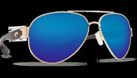 Costa Del Mar South Point 580G Polarized Sunglasses Gold Frame Angle