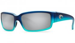 Costa Del Mar Caballito 580P Polarized Sunglasses Matte Caribbean Fade Frame and Silver Mirror Lens