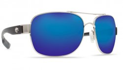Costa Del Mar Cocos 580P Polarized Sunglasses Palladium Frame Angle