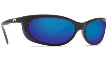 Costa Del Mar Fathom 580P Polarized Sunglasses Matte Black Frame Angle
