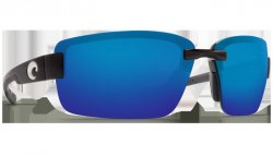 Costa Del Mar Galveston 580P Polarized Sunglasses Matte Black Frame Angle