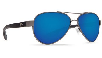 Costa Del Mar Loreto 580P Polarized Sunglasses Gunmetal Frame Angle