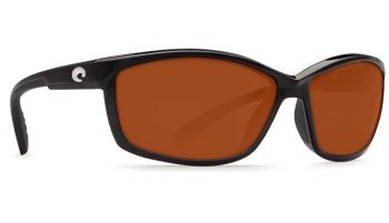 Costa Del Mar Manta 580P Polarized Sunglasses Shiny Black Frame Angle