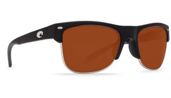 Costa Del Mar Pawleys 580P Polarized Sunglasses Matte Black Frame Angle
