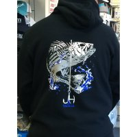 J&H Tackle Striped Bass Hoodie Back