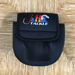 J&H Tackle Neoprene Spinning Reel Cover Closed