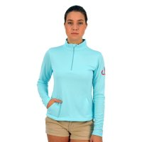 Montauk Tackle Company Women's Lightweight 1/4 Zip Performance Shirt