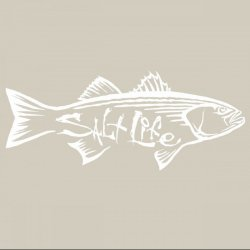 Salt Life SAD919 WHITE MED Striper Hunt Decal