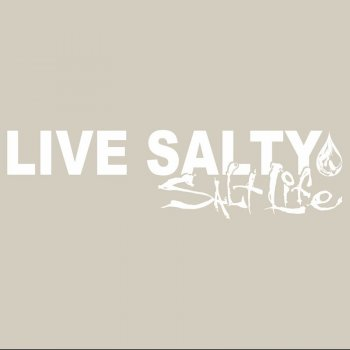 Salt Life SAD920 WHITE MED Live Salty Decal
