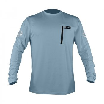 Pelagic Aeroflex Tek Long Sleeve Performance Shirt Slate