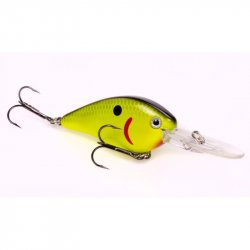 Strike King HCKVD15F-535 KVD HC Flat Side Crankbait Black Back Chartreuse