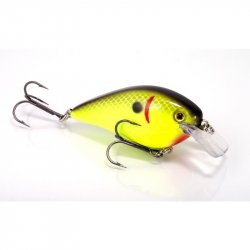 Strike King HCKVDS15-535 Square Bill Silent Crankbait Black Back Chartreuse