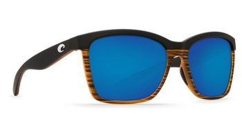 Costa Del Mar Anaa 580G Polarized Sunglasses Matte Coconut Fade Frame and Blue Mirror Lens