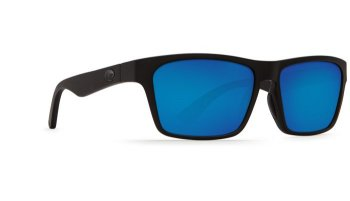 Costa Del Mar Hinano 580P Polarized Sunglasses Blackout Frame and Blue Mirror Lens