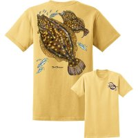 David Dunleavy Flounder Short Sleeve T-Shirt DDM8015 Yellow