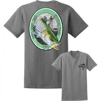 David Dunleavy Last Cast Striped Bass Short Sleeve T-Shirt DDM8043 Athletic Heather