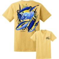David Dunleavy Yellowfin Tuna Short Sleeve T-Shirt DDM8005 Yellow