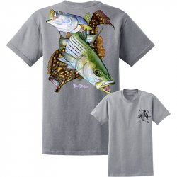 David Dunleavy Inshore Slam Short Sleeve T-Shirt DDM8024 Athletic Heather