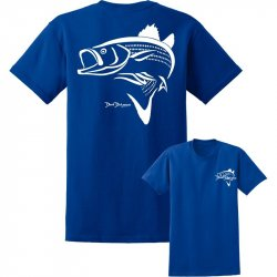 David Dunleavy Striper Deco Short Sleeve T-Shirt DDM6008 Royal Blue