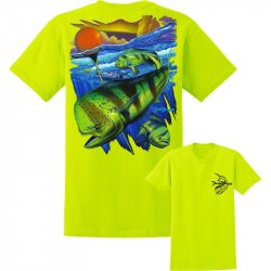 David Dunleavy Mahi Pot Life Short Sleeve T-Shirt DDM8041 Safety Green