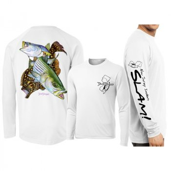 David Dunleavy NJ Inshore Slam Long Sleeve Performance Shirt DMW8024 White