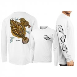Davind Dunleavy Flounder Long Sleeve Performance Shirt DMW8015 White