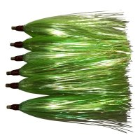 Run Off Lures Mylar Teasers Green Six Pack