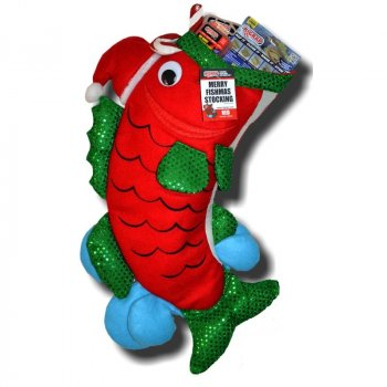 Rigrap Merry Fishmas Stocking Red