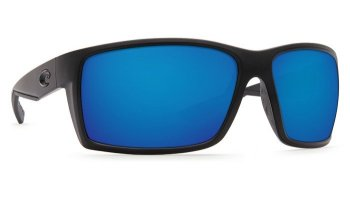 Costa Del Mar Reefton 580G Polarized Sunglasses Blackout Frame and Blue Mirror Lens